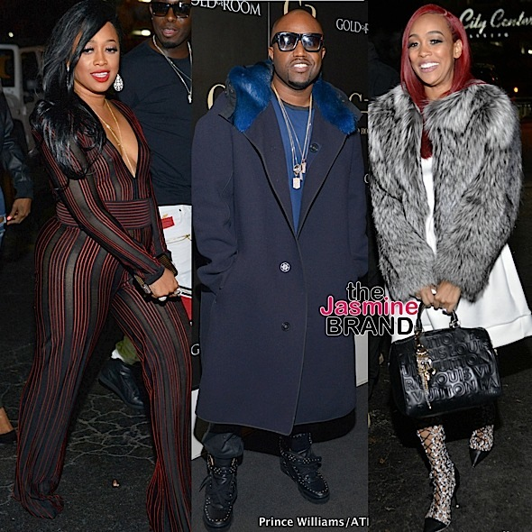 Monica, Trina & Rico Love Party at ATL's Goldroom [Photos]