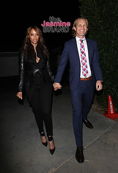 Tyra Banks And Erik Asla Attend A Private House Party in LA