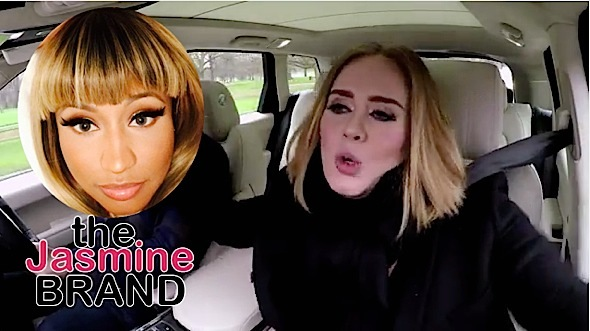 Adele Murders Nicki Minaj Monster In Carpool Karaoke-the jasmine brand