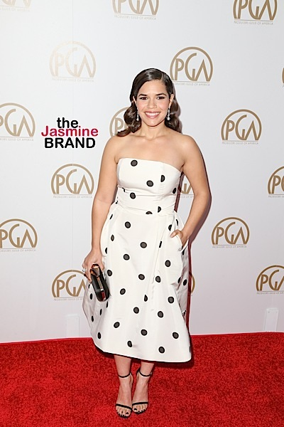 01/23/2016 - America Ferrera - 27th Annual Producers Guild of America Awards - Arrivals - Hyatt Regency Century Plaza - Century City, CA, USA - Keywords: Vertical, Annual Red Carpet Event, Portrait, Photography, Photograph, Arts Culture and Entertainment, Attending, Celebrities, Celebrity, Person, People, PGA Awards, Topix, Bestof, California Orientation: Portrait Face Count: 1 - False - Photo Credit: PRPhotos.com - Contact (1-866-551-7827) - Portrait Face Count: 1