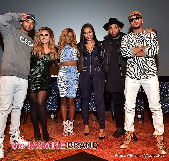 """Growing Up Hip Hop"" ATL Premiere: Porsha Williams, Kenya Moore, Stevie J, Mimi Faust, Joseline Hernandez Attend"