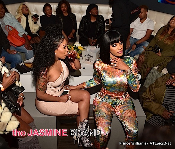 K.Michelle Hosts Viewing Party: Joseline Hernandez, Shamea ... K Michelle And Joseline