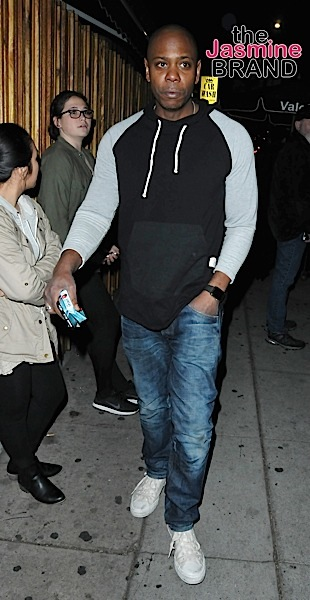 Dave Chapelle is seen arriving at Mr. Nice Guy in West Hollywood, CA