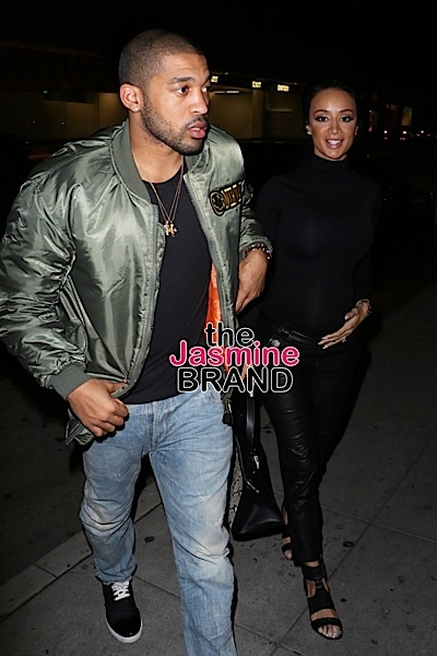 Pregnant Draya Michele and her fiance Orlando Scandrick of the Dallas Cowboys have dinner at Mr Chow in Beverly Hills, California on January 22, 2016. Pictured: Draya Michele and Orlando Scandrick Ref: SPL1213851 220116 Picture by: LA Photo Lab / Splash News Splash News and Pictures Los Angeles: 310-821-2666 New York: 212-619-2666 London: 870-934-2666 photodesk@splashnews.com