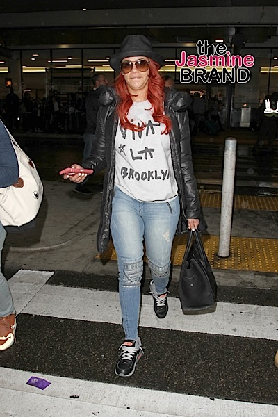 American singer-songwriter, record producer, actress, and author, Faith Evans spotted arriving into Los Angeles.