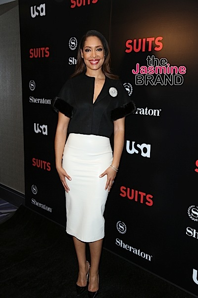 "01/21/2016 - Gina Torres - USA Network's ""Suits"" Season 5 Los Angeles Premiere - Arrivals - Sheraton Los Angeles Downtown Hotel - Los Angeles, CA, USA - Keywords: Vertical, Theatrical Performance, Downtown District, Television Show, Portrait, Photography, Arts Culture and Entertainment, Celebrities, Celebrity, Person, People, Arrival, Television Show, California Orientation: Portrait Face Count: 1 - False - Photo Credit: Guillermo Proano / PR Photos - Contact (1-866-551-7827) - Portrait Face Count: 1"