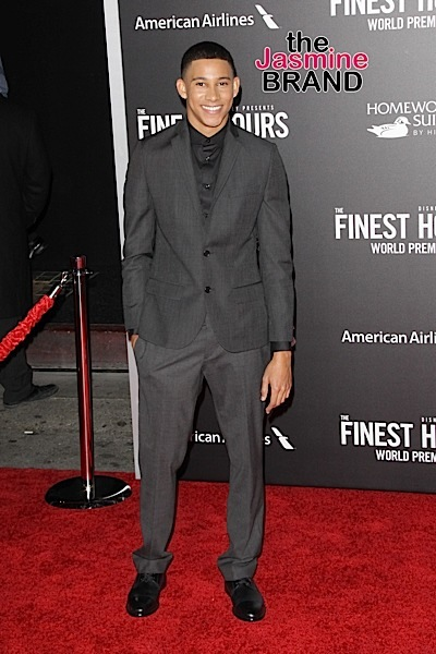 """01/25/2016 - Keiynan Lonsdale - """"The Finest Hours"""" World Premiere - Arrrivals - TCL Chinese Theatre - Hollywood, CA, USA - Keywords: Vertical, TCL Chinese Theater, Disney, Film Premiere, Movie Premiere, Arrival, Portrait, Photography, Film Industry, Red Carpet Event, Arts Culture and Entertainment, Celebrities, Celebrity, Topix, Bestof, Mann Theaters, """"The Finest Hours"""" Los Angeles Premiere, California Orientation: Portrait Face Count: 1 - False - Photo Credit: Izumi Hasegawa / PRPhotos.com - Contact (1-866-551-7827) - Portrait Face Count: 1"""