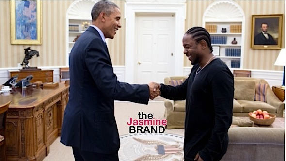 Kendrick Lamar Visits White House President Obama-the jasmine brand