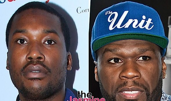 50 Cent Continues to Slander Meek Mill [Photos]