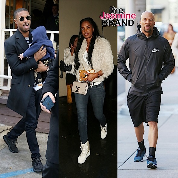 Michael B Jordan, Kim Porter, Common