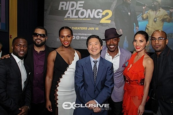 Kevin Hart, Ice Cube, Tika Sumpter, Olivia Munn Host 'Ride Along 2' In Miami [Photos]