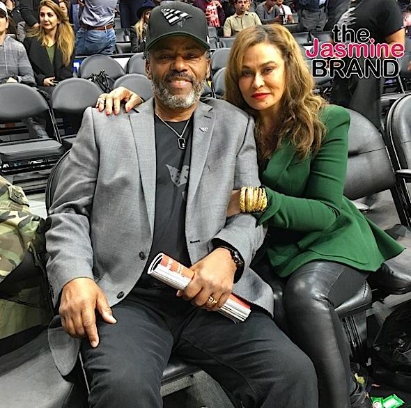 Richard Lawson-Tina Lawson-Clippers game-the jasmine brand