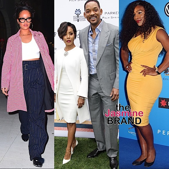 Will Smith & Wife Jada Hit Palm Springs Fest, Rihanna Dines @ Nobu, Serena Williams Takes Hopman Cup + YG, Claudia Jordan, Tameka Raymond