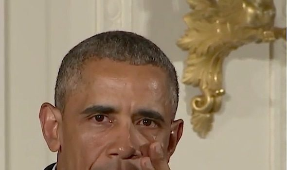 President Obama Sheds Tears While Discussing Gun Control [VIDEO]