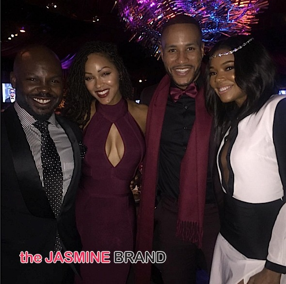 Larry Sims, Meagan Good, Devon Franklin, Gabrielle Union