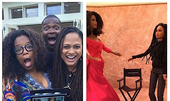 Oprah Shows Off Her Ava DuVernay Barbie, Omeeka Sits Court-Side +  [Photos]