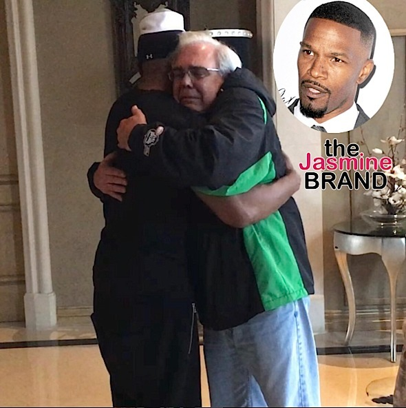 Jamie Foxx Meets Father of Son He Saved From Burning Car [Photo]