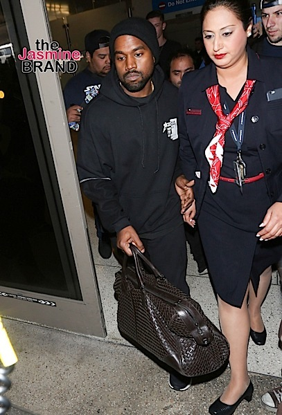 """01/29/2016 - Kanye West - Kanye West and Kendall Jenner Sighted at LAX Airport on January 29, 2016 - Los Angeles International Airport - Los Angeles, CA, USA - Keywords: Vertical, Man, Musician, Rap, R&B, Photography, Arts Culture and Entertainment, Person, People, Celebrity Sighting, Celebrities, Topix, Bestof, California, Travel, """"Keeping Up with the Kardashians"""", Reality TV Orientation: Portrait Face Count: 1 - False - Photo Credit: jmx / PRPhotos.com - Contact (1-866-551-7827) - Portrait Face Count: 1"""