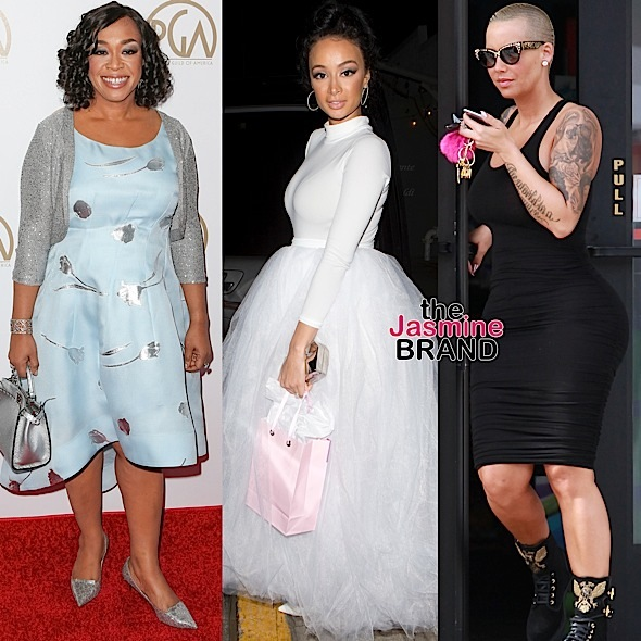 Celebrity Stalking: Shonda Rhimes, Draya Michele, Amber Rose, Spike Lee, Chris Rock, Cheryl Boone Isaacs [Photos]
