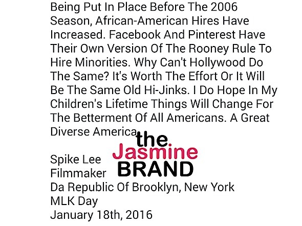 spike lee boycott oscars 2016-the jasmine brand