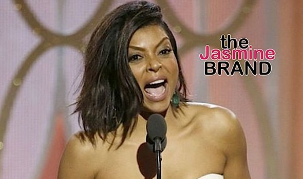 Taraji P. Henson Hands Out Cookies At Golden Globes + Her Hilarious Reaction to Being Wrapped [VIDEO]