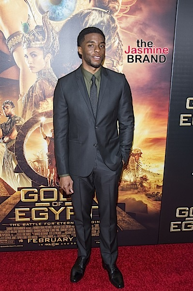 "Chadwick Boseman at the ""Gods Of Egypt"" New York City Premiere"