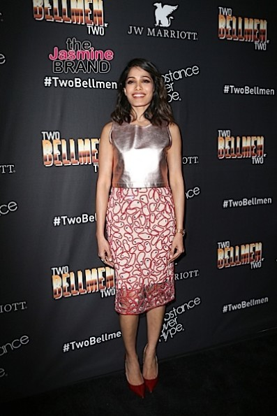 "02/04/2016 - Freida Pinto - ""Two Bellmen Two"" Los Angeles Premiere - Arrivals - JW Marriott Los Angeles at L.A. LIVE - Los Angeles, CA, USA - Keywords: Vertical, Substance Over Hype, Action, Comedy, Short Film Premiere, Movie Premiere, Arrival, Portrait, Photography, Film Industry, Red Carpet Event, Arts Culture and Entertainment, Celebrities, Celebrity, Person, People, J.W. Marriott Hotel, Topix, Bestof, California Orientation: Portrait Face Count: 1 - False - Photo Credit: PRPhotos.com - Contact (1-866-551-7827) - Portrait Face Count: 1"