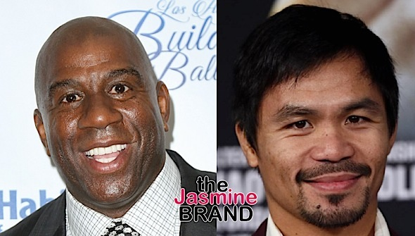 Magic Johnson Boycotting Manny Pacquiao Fights Over Anti-Gay Comments: I'm glad Nike ended his contract!