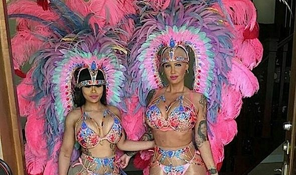 Amber Rose & Blac Chyna Invade Trinidad's Carnival [Photo]