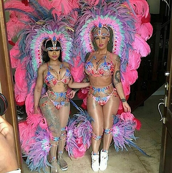 Amber Rose & Blac Chyna Invade Trinidad's Carnival [Photo]