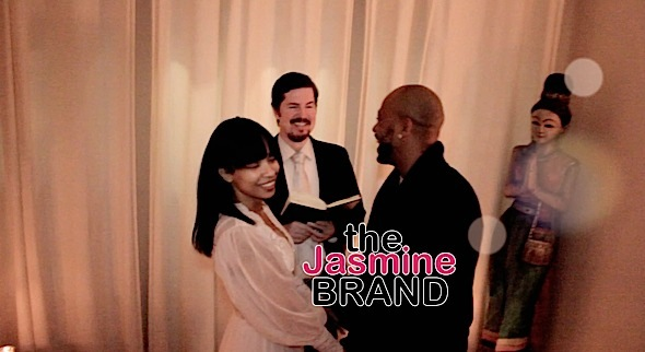 Karrine Steffans & Columbus Short on their wedding day