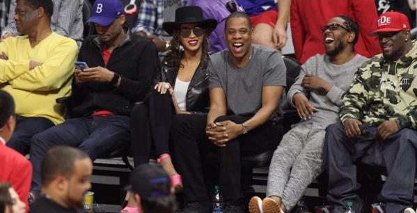 Beyonce, Jay Z, Kendrick Lamar, DJ Khaled, Floyd Mayweather, Jamie Foxx Hit Clippers Game [Photos]