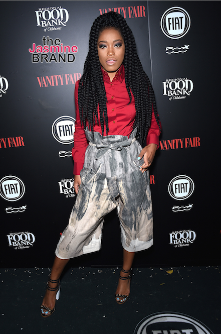"Keke Palmer arrives at the Vanity Fair ""Young Hollywood"" party in West Hollywood, CA."
