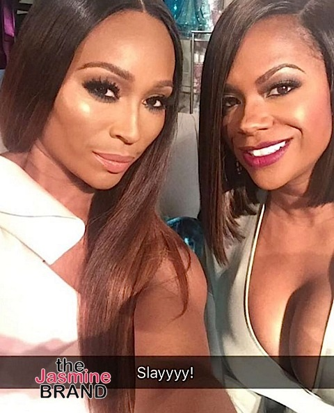 Behind the Scenes! Real Housewives of Atlanta Films Reunion: Cynthia Bailey, Porsha Williams, Kandi Burruss, Phaedra Parks, Kenya Moore, Kim Fields [Photos]