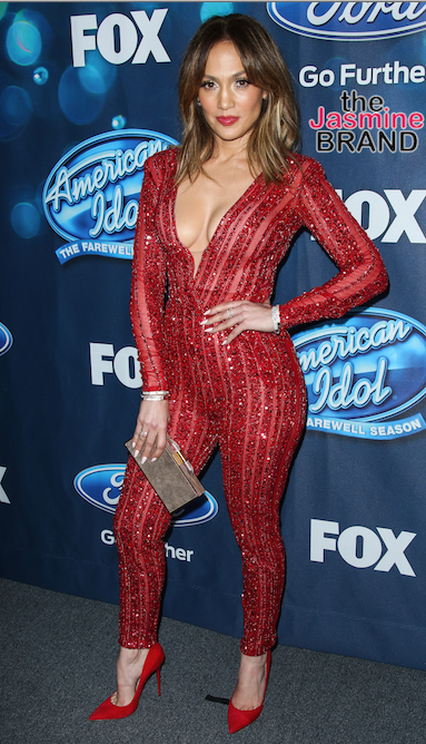 J.Lo at the Meet The 'American Idol XV' Finalists Party Red carpet at The London Hotel