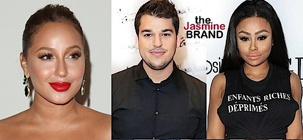 Adrienne Bailon 'Happy' For Ex-Boyfriend Rob Kardashian & Blac Chyna