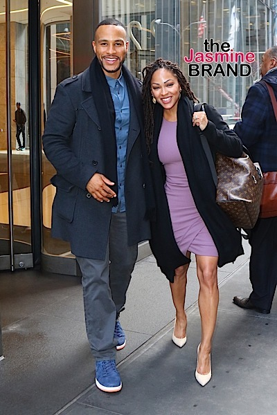 Meagan Good and DeVon Franklin  were seen leaving Sirius XM this morning after Shade 45 interview with Sway. Pictured: Meagan Good, DeVon Franklin Ref: SPL1217793  010216   Picture by: BlayzenPhotos / Splash News Splash News and Pictures Los Angeles:	310-821-2666 New York:	212-619-2666 London:	870-934-2666 photodesk@splashnews.com
