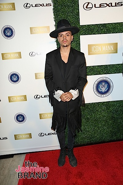 02/26/2016 - Evan Ross - ICON MANN's 4th Annual Power 50 Dinner - Arrivals - Mr. C Beverly Hills, 1224 Beverwil Drive - Los Angeles, CA, USA - Keywords: Vertical, Person, People, Red Carpet Event, Arrival, Portrait, Photography, Photograph, Arts Culture and Entertainment, Celebrities, Celebrity, Topix, Bestof, California Orientation: Portrait Face Count: 1 - False - Photo Credit: Guillermo Proano / PR Photos - Contact (1-866-551-7827) - Portrait Face Count: 1