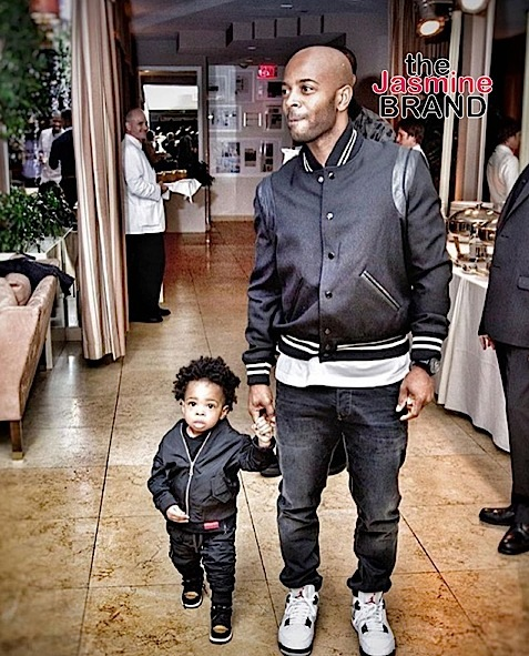 Kelly Rowland's son, Titan, and husband Tim are splitting images of each other.
