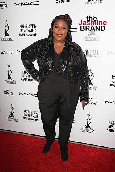 Loni Love attends Make-Up Artists and Hair Stylists Guild Awards.