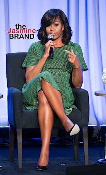 "02/02/2016 - Michelle Obama - 2016 American Magazine Media Conference - Day 2 - Grand Hyatt - New York City, NY, USA - Keywords: First Lady of the United States of America, FLOTUS, Vertical, ""Let Girls Learn"" Discussion, Press Conference, Person, People, Celebrity, Celebrities, Talk, Discussion, Candid, Photography, Arts Culture and Entertainment, Topix, Bestof, Stage Orientation: Portrait Face Count: 1 - False - Photo Credit: Janet Mayer / PRPhotos.com - Contact (1-866-551-7827) - Portrait Face Count: 1"