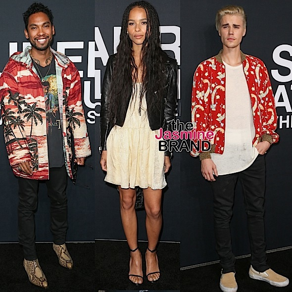 Miguel, Zoe Kravitz, Justin Bieber, Lee Daniels, Sam Smith Attend Saint Laurent Show [Photos]