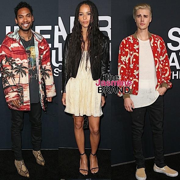 Miguel, Zoe Kravitz, Justin Bieber