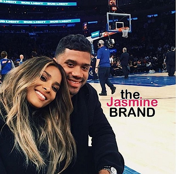 serena williams-russell wilson-knicks game-the jasmine brand