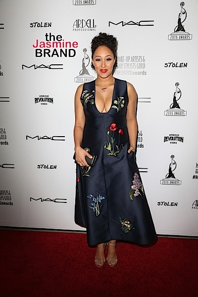 Tamera Mowry-Housley attends the Make-Up Artists and Hair Stylists Guild Awards.