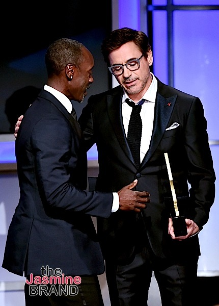 BEVERLY HILLS, CA - FEBRUARY 21: Actor-director Don Cheadle accepts the ABFF Excellence in the Arts Award onstage during the 2016 ABFF Awards: A Celebration Of Hollywood at The Beverly Hilton Hotel on February 21, 2016 in Beverly Hills, California. (Photo by Alberto Rodriguez/BET/Getty Images for BET)