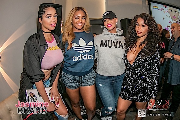 "Amber Rose Celebrates ""MUVA MOJI"" Emojis With Quincy, Rosa Acosta, Brandi Maxiell, Trinidad James, Safaree Samuels"