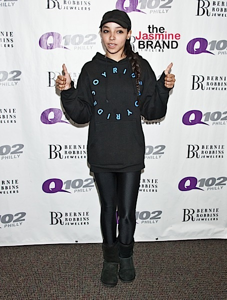 03/15/2016 - Tinashe - Tinashe Visits Q102's Performance Theatre in Bala Cynwyd - March 15, 2016 - Q102's Performance Theatre - Bala Cynwyd, PA, USA - Keywords: Full Length Shot, Tinashe, American, Actor, Actress, Model, Singer, Songwriter, Musician, Music, Pop, Entertainment Orientation: Portrait Face Count: 1 - False - Photo Credit: Paul Froggatt / PR Photos - Contact (1-866-551-7827) - Portrait Face Count: 1
