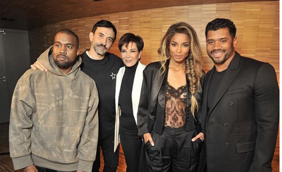 Chris Brown, Kanye West, Ciara, Russell Wilson, Kris Jenner, Janet Jackson Spotted at Paris Fashion Week [Photos]