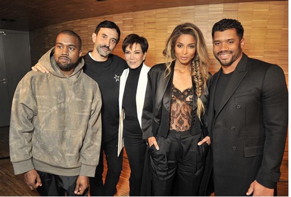 Chris Brown, Kanye West, Ciara, Russell Wilson, Kris Jenner, Janet Jackson Spotted at Paris Fashion Week [Photos]